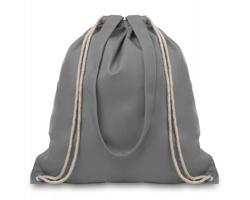 Plátěná nákupní taška / batoh OILS s popruhy a stahovací šňůrkou - šedá
