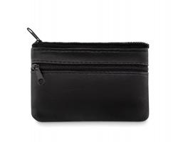 Kožená peněženka SEXED s kroužkem na klíče - černá