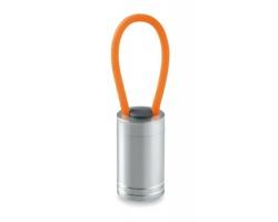Hliníková LED svítilna DINKY s barevným poutkem - oranžová
