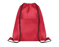 Polyesterový stahovací batoh JOTTERS s přední kapsou - červená