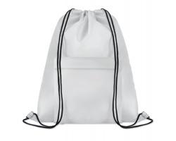 Polyesterový stahovací batoh JOTTERS s přední kapsou - bílá