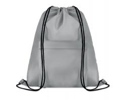 Polyesterový stahovací batoh JOTTERS s přední kapsou - šedá