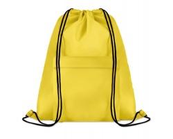 Polyesterový stahovací batoh JOTTERS s přední kapsou - žlutá