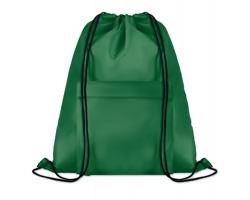 Polyesterový stahovací batoh JOTTERS s přední kapsou - zelená