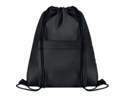 Polyesterový stahovací batoh JOTTERS s přední kapsou - černá