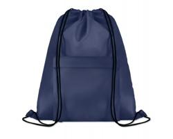 Polyesterový stahovací batoh JOTTERS s přední kapsou - modrá