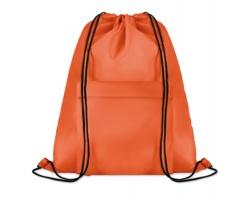 Polyesterový stahovací batoh JOTTERS s přední kapsou - oranžová