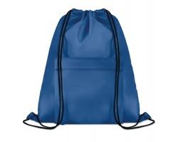 Polyesterový stahovací batoh JOTTERS s přední kapsou - královská modrá