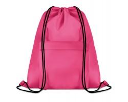 Polyesterový stahovací batoh JOTTERS s přední kapsou - fuchsie