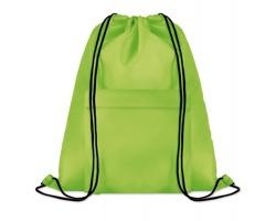 Polyesterový stahovací batoh JOTTERS s přední kapsou - limetková