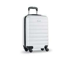 Cestovní kufr na kolečkách GARBOARD s integrovaným zámkem - bílá