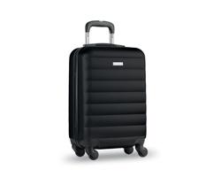 Cestovní kufr na kolečkách GARBOARD s integrovaným zámkem - černá
