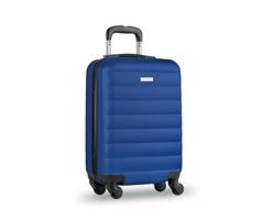 Cestovní kufr na kolečkách GARBOARD s integrovaným zámkem - královská modrá