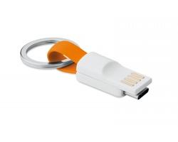 Plastový přívěsek na klíče SNUG s USB typu C - oranžová