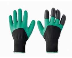 Gumové zahradní rukavice BLUFF vhodné pro hrabání - zelená