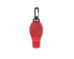 Plastová odrazka CHACE s karabinou - červená