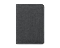 Polyesterové pouzdro na platební karty GIGOT s RFID ochranou - černá
