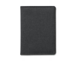 Polyesterové pouzdro na cestovní pas JEANS a 3 platební karty - černá