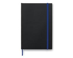 Poznámkový blok BOW s kontrastními detaily, formát A5 - královská modrá