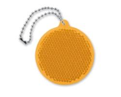 Akrylový reflexní přívěsek na klíče SEAMER s kovovým poutkem - oranžová