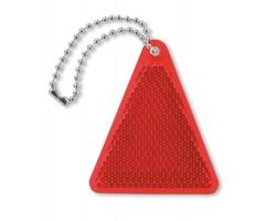 Akrylový reflexní přívěsek na klíče BENTHOS tvaru trojúhelníku - červená