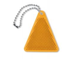 Akrylový reflexní přívěsek na klíče BENTHOS tvaru trojúhelníku - oranžová