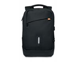 Nylonový batoh SCUBAS s integrovanou powerbankou - černá