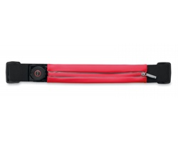 Nepromokavý skládací běžecký pás BEADS s LED světlem - červená