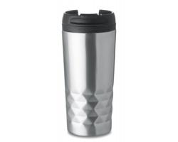 Dvouplášťový termohrnek BONOS, 280 ml - matně stříbrná