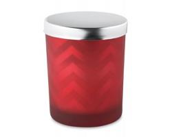 Skleněný svícen s víkem SHACKLER a vonnou svíčkou - červená