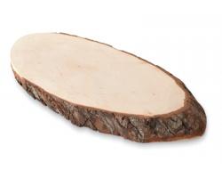Dřevěný tácek APTLY s dekorem kůry - hnědá (dřevo)
