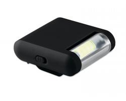 Plastová nasazovací svítilna CREEK s klipem - černá