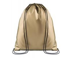 Polyesterový metalický stahovací batoh ATONES - zlatá