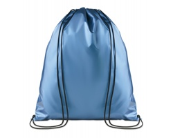 Polyesterový metalický stahovací batoh ATONES - modrá