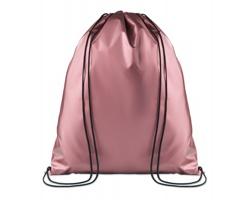 Polyesterový metalický stahovací batoh ATONES - růžová