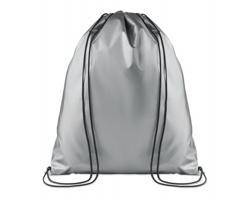 Polyesterový metalický stahovací batoh ATONES - stříbrná