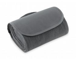 Fleecová skládací deka OBEYS s uchem pro přenášení - šedá
