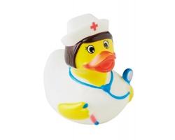 Gumová antistresová kachna WERT v provedení zdravotní sestry - žlutá