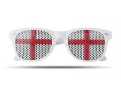 Plastové fanouškovské brýle WINNIES s dekorem vlajky - slonovinová