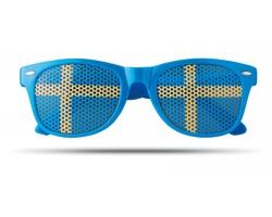 Plastové fanouškovské brýle WINNIES s dekorem vlajky - modrá
