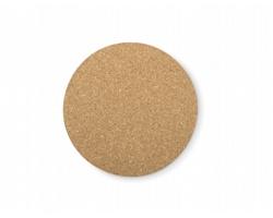 Korkový podtácek HOKED tvaru kruhu - hnědá (dřevo)