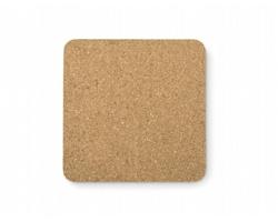 Korkový podtácek ENOL tvaru čtverce - hnědá (dřevo)
