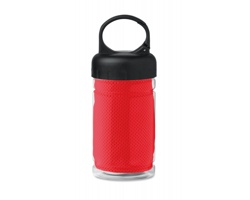 Chladicí ručník BEND s lahví na pití, 300 ml - červená