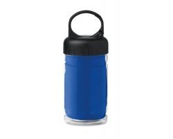 Chladicí ručník BEND s lahví na pití, 300 ml - královská modrá