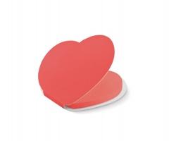 Lepicí papírky BURKS ve tvaru srdce, 50 ks - červená