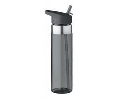 Tritanová sportovní láhev na pití IRAN s integrovaným pítkem, 650 ml - transparentní šedá