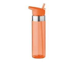 Tritanová sportovní láhev na pití IRAN s integrovaným pítkem, 650 ml - transparentní oranžová