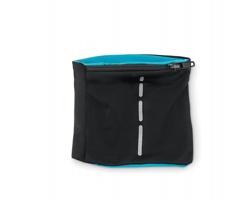 Polyesterový reflexní sportovní náramek WELDS s kapsou - tyrkysová