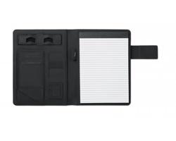 Konferenční desky GEMOT s poznámkovým blokem a powerbankou, formát A5 - černá