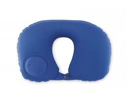 Nafukovací cestovní polštářek LOLA s integrovanou pumpičkou - modrá